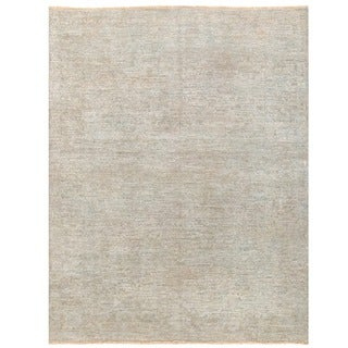 Herat Oriental Afghan Hand-knotted Over-dyed Oushak Wool Rug (4' x 5'3)