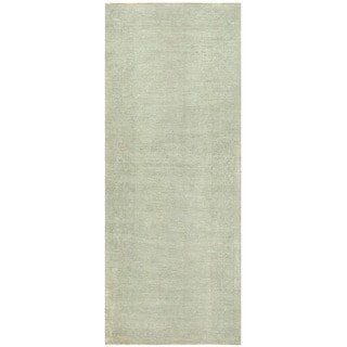 Herat Oriental Afghan Hand-knotted Over-dyed Oushak Wool Rug (3'11 x 9'9)