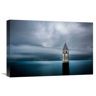 Global Gallery Leon 'Church Of Graun' Stretched Canvas Artwork