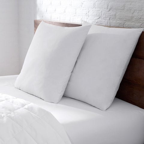 EnviroLoft Euro Square Extra Firm Hypoallergenic Pillow - White
