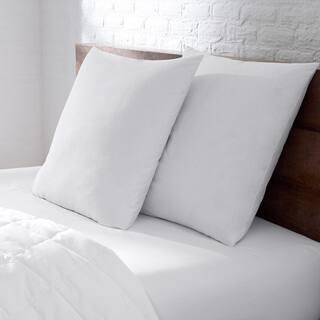 EnviroLoft Euro Square Extra Firm Hypoallergenic Pillow - White