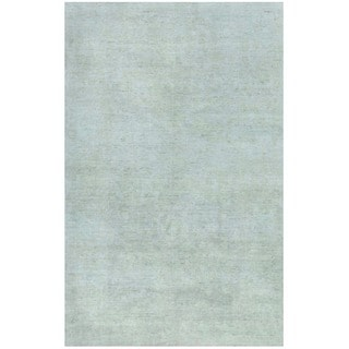 Herat Oriental Afghan Hand-knotted Vegetable Dye White Wash Oushak Wool Rug (4'9 x 7'5)