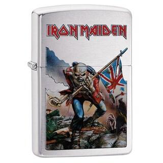 Zippo Iron Maiden Skeleton & Flag Chrome Windproof Lighter