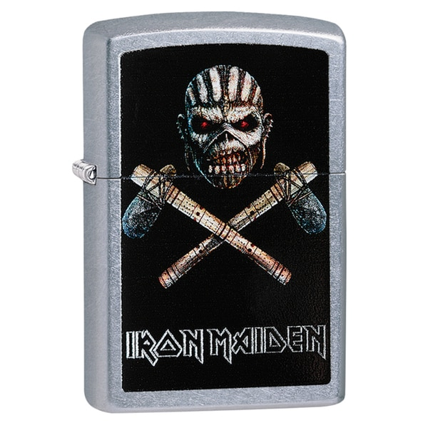 Iron Maiden Street Mohawk Skeleton Chrome Windproof Zippo Lighter