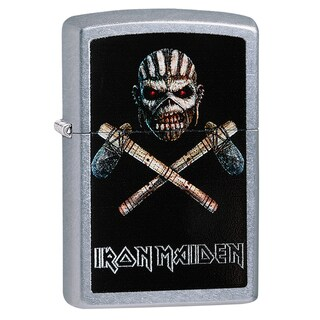 Iron Maiden Street Mohawk Skeleton Chrome Windproof Zippo Lighter