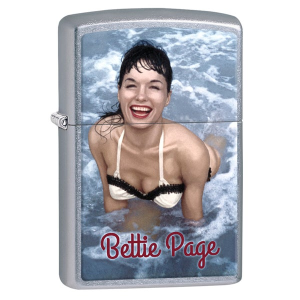 Betty Page Pool Chrome Windproof Zippo Lighter