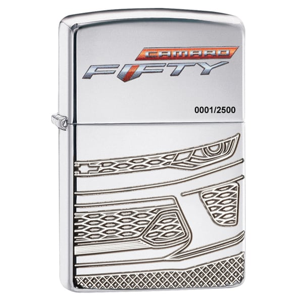 Zippo Chevy Camaro 50th Anniversary Chrome Windproof Lighter
