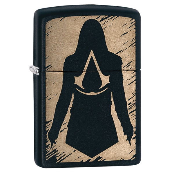Zippo Assassin's Creed Black Matte Wind Proof Lighter