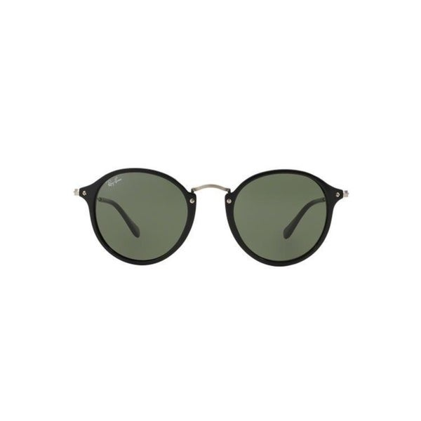 18a87ab1cf Ray-Ban Round Fleck RB2447 901 4J Black Frame Green Gradient Flash Lens  Sunglasses