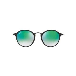 Ray-Ban RB2447 901/4O Round Fleck Black Frame Blue Gradient Flash 49mm Lens Sunglasses
