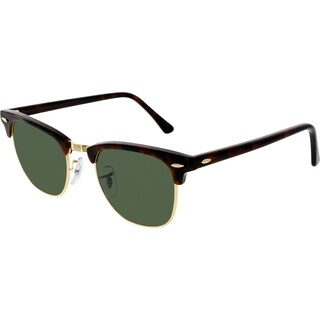 Ray-Ban RB3016 990/58 Clubmaster Classic Tortoise Frame Polarized Green 49mm Lens Sunglasses
