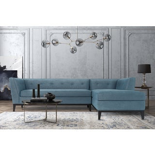 Jess Azure Textured Linen RAF Sectional