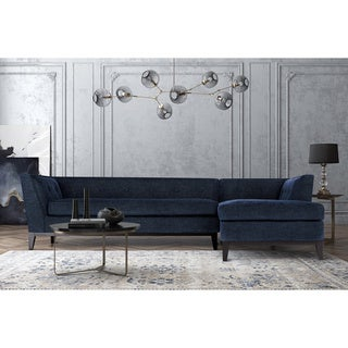 Jess Mid Century Grey Textured Linen RAF Sectional