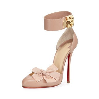 Christian Louboutin Fetish Nude d'Orsay Pumps (7.5)