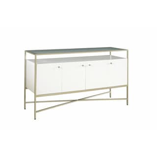 Hemming Glam White Entryway Console Table