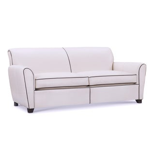 White Leather Sofas Couches Loveseats For Less Overstockcom
