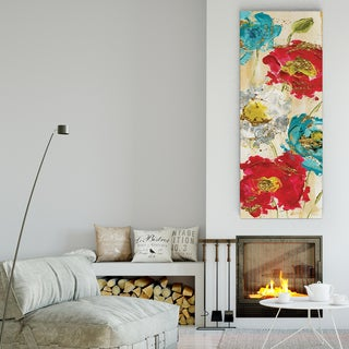 'Poppy Spirit I' Canvas Premium Gallery-wrapped Wall Art