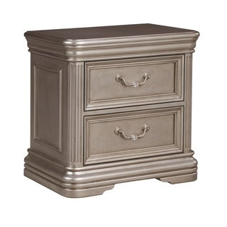 Signature Design by Ashley Birlanny Silver Two Drawer Night Stand