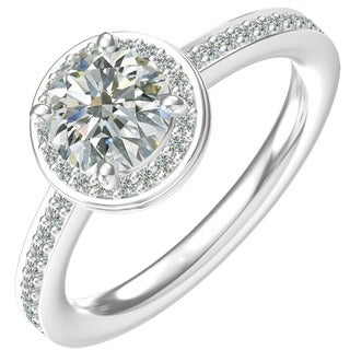Sterling-silver Cubic Zirconia Classic Engagement Ring (Option: 6.25)
