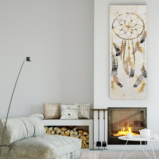 Nan 'Tribal Dreamcatcher' Canvas Premium Gallery-wrapped Wall Art
