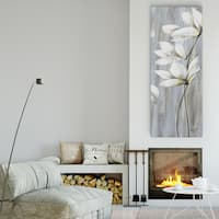 Maria Donovan 'Silver Spring III' Canvas Premium Gallery-wrapped Wall Art