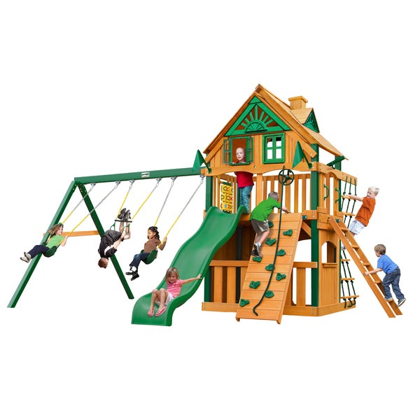 Gorilla Playsets Chateau Clubhouse Treehouse w/ Timber Shield