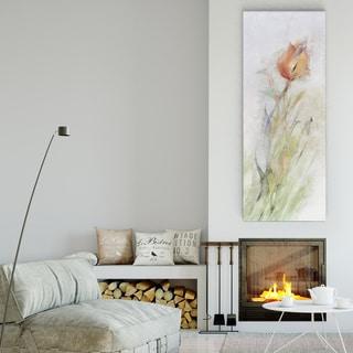 Mike Calascibetta 'Tulip Breeze II' Premium Gallery-wrapped Canvas
