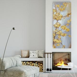 'Forsythia Garden I' 3 Sizes Available Premium Gallery Wrapped Canvas