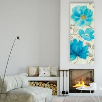 Nan 'Blue Garden II' Canvas Premium Gallery-wrapped Wall Art