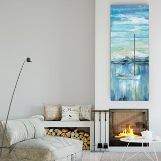 Nan 'Evening Bay I' Premium Gallery Wrapped Canvas