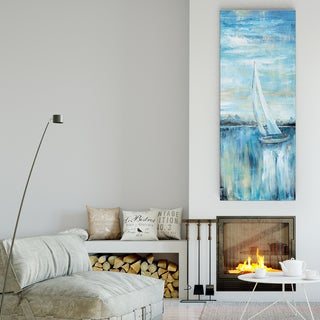 Nan 'Evening Bay III' Canvas Premium Gallery-wrapped Wall Art