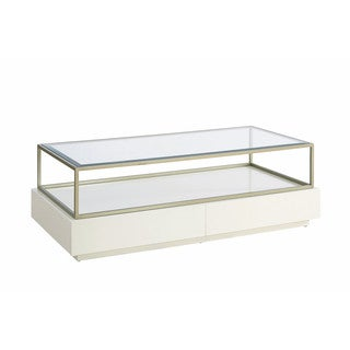 Hemming Glam White Rectangular 2-drawer Coffee Table
