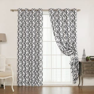 Curtains Ideas 86 inch curtain panels : Rose Tree Barclay Trellis 86-inch Curtain Panel Pair - Free ...