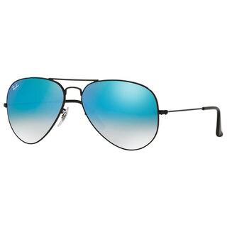 Ray-Ban RB3025 002/4O Aviator Black Frame Blue Gradient Flash 58mm Lens Sunglasses