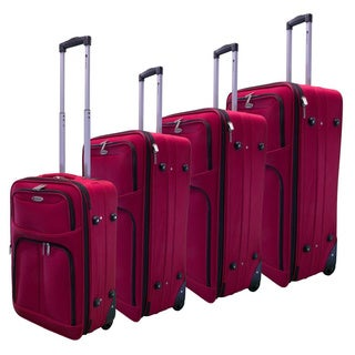 Dumont 4-piece Expandable Lightweight Spinner Wheeled Luggage Set
