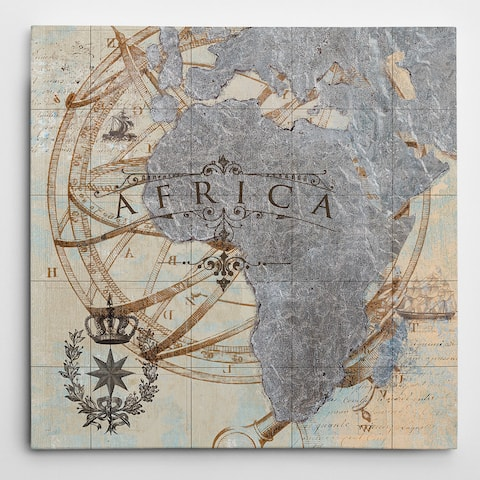 Africa Map Gallery Wrapped Canvas Wall Art