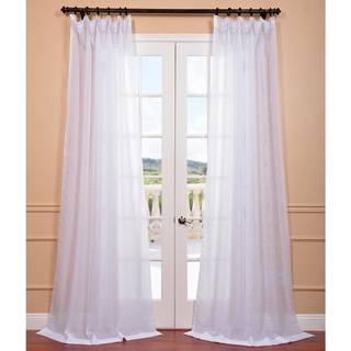 """Exclusive Fabrics Signature White Double Layer Sheer Curtain Panel 84""""L (As Is Item)"""