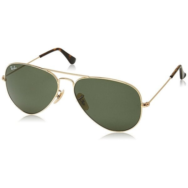 Ray-Ban Lla Havana Aviator RB3025 Gold Frame Green Classic 62mm Lens Sunglasses