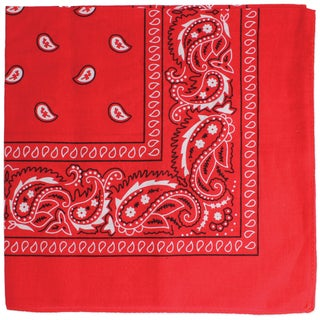 Red or Blue Paisley Bandana (Option: Red)