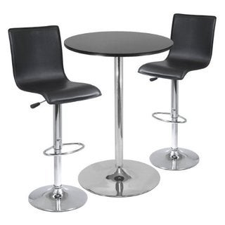 Spectrum 3-piece Pub Table Set, 28-inch Round Table with 2 L-Shape Airlfit Stools