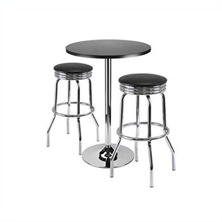 Summit 3-piece Bar Table Set, 24-inch Table and 2 Stools