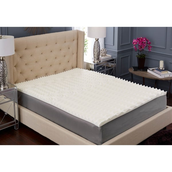 TruPedic USA 2-inch 5 Zone Textured Memory Foam Mattress Topper