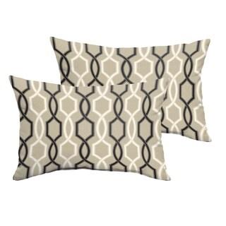 Sloane Black and Tan Indoor/ Outdoor 13 in x 20 in Lumbar Pillow Set