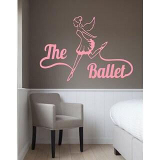 Girl Ballerina Dancer Dance Studio Interior Vinyl Decal Sticker Art Mural Wall Decor Sticker Decal size 22x30 Color Black