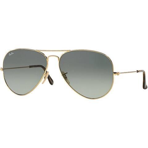 Ray-Ban La Havana Aviator RB3025 Gold Frame Polarized Grey Gradient 62mm Lens Sunglasses