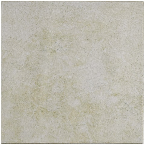 SomerTile 12.75x12.75-inch Clinker Retro Blanco Quarry Floor and Wall Tile