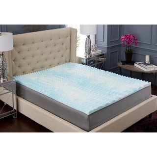 TruPedic USA 2-inch 5 Zone Textured Gel Memory Foam Mattress Topper