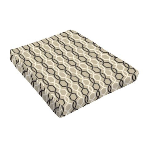 Sloane Black and Tan Indoor/ Outdoor 18 In Tapered Cushion
