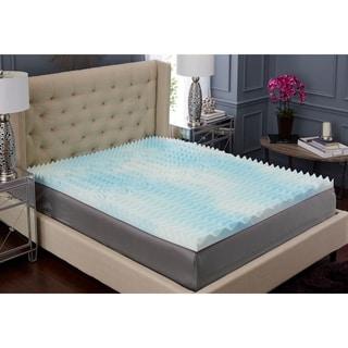 trupedic usa 3inch 5 zone textured gel memory foam mattress topper