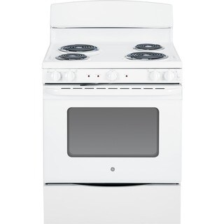 GE White 30-inch Free-Standing Electric Range with Oven